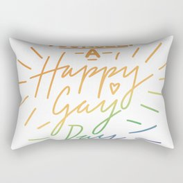 Have Yourself a Happy Gay Day Rectangular Pillow