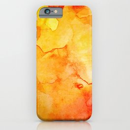 Abstract Texture Orange iPhone Case