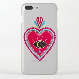 Ex Voto Sacred Heart Clear iPhone Case