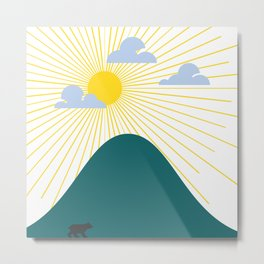 Bear Walks at Sunrise Metal Print