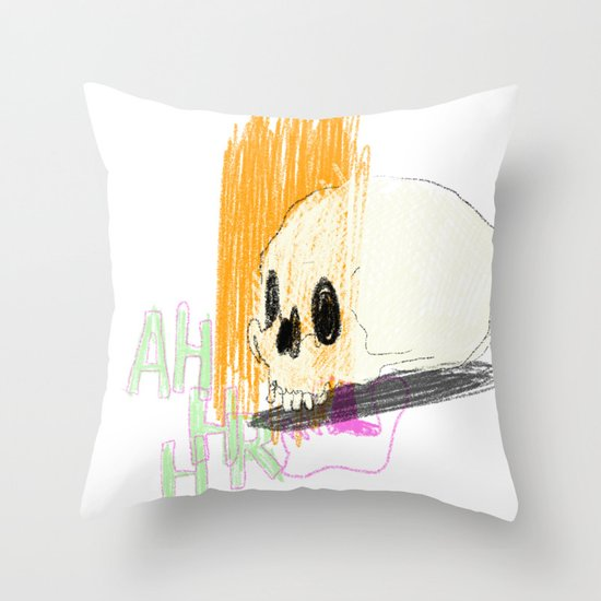 AHHHHHHR IT'S A SKULL (ACTUALLY IT'S JUST THE CRANIUM) Throw Pillow
