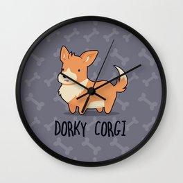 Dorky Corgi Wall Clock