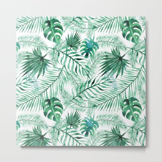 Palm-leaves Metal Print