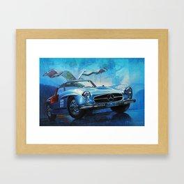 Legendary car 300SL «Gull-wing» Framed Art Print