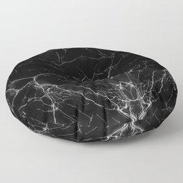Black Marble Floor Pillow