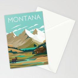 Montana Glacier poster Stationery Cards