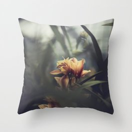 live from the orchid house Throw Pillow