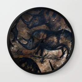 Deep Cave Rhino Wall Clock