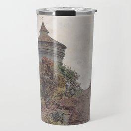 The Spittler In Nuremberg 1856 by Rudolf von Alt   Reproduction Travel Mug