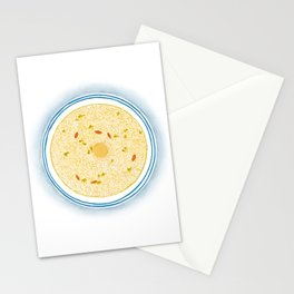 Watercolor of Chinese Cuisine | Osmanthus and Sweet Fermented Glutinous Rice Soup | 桂花甜酒酿 Stationery Cards
