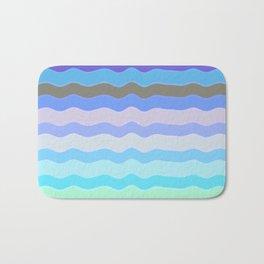 Bright Blue Bars Bath Mat
