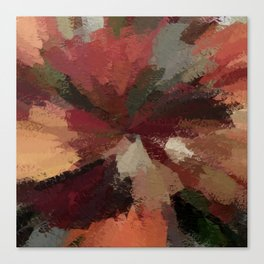 Autumn Radial Abstract Canvas Print