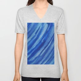 cirrus clouds abstract Unisex V-Neck