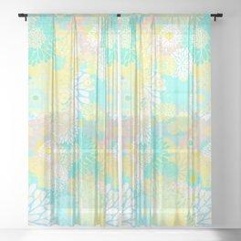 Floral firework Sheer Curtain