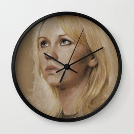 That blonde girl Wall Clock