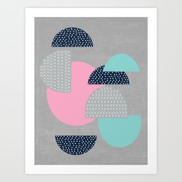 open - gray Art Print