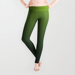 Ombre | Lime Green and Charcoal Grey Leggings