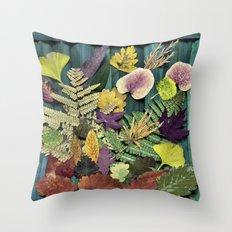 autumn abstract- fallen beauties Throw Pillow