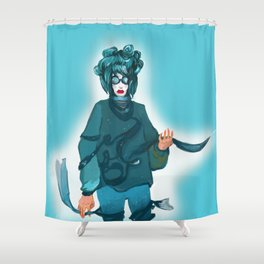 fashionable woman Shower Curtain