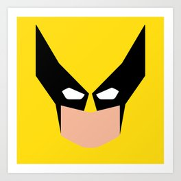 Wolverin e superhero Art Print