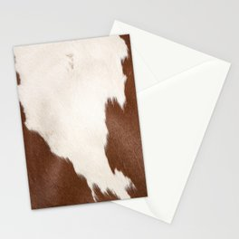 Brown Cowhide v4 Stationery Cards