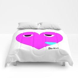 funny heart Comforters
