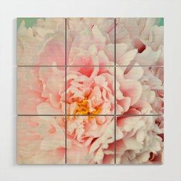 Peony Flower Photography, Pink Peony Floral Art Print Nursery Decor A happy life - Peonies 2 Wood Wall Art