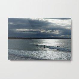 Noosa Dusk Surfers - Beach Photography Metal Print