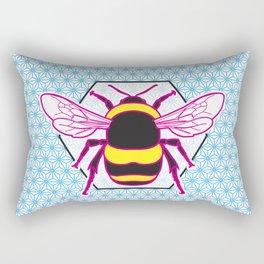 Geometric Bumblebee Rectangular Pillow