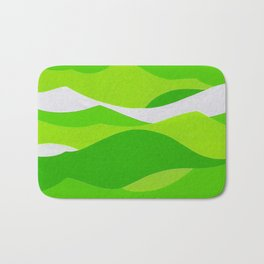 Waves - Lime Green Bath Mat
