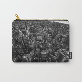 New York Cityscape Aerial (Black and White) Carry-All Pouch
