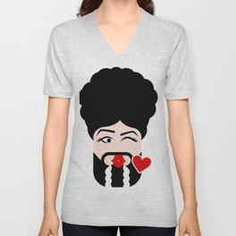 LaMoji Kiss Unisex V-Neck