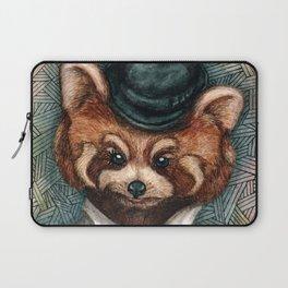 Cute Red Panda in Bowler hat Laptop Sleeve