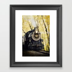 Autumn line Framed Art Print