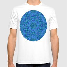 blues Mens Fitted Tee MEDIUM White