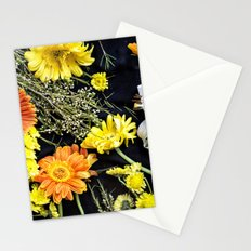 Fresh blooms on black Stationery Cards