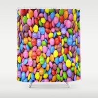 saga Shower Curtains featuring Candy Crush Saga by ArtSchool