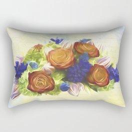 A Beautiful Life - Vintage Flower Art Rectangular Pillow