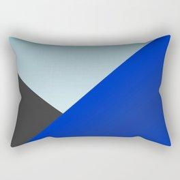Blue Triangles Rectangular Pillow