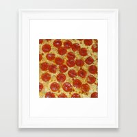 pizza Framed Art Prints featuring Pizza by Callmepains