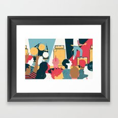 Crowd - (My Dad Used To Be So Cool) Framed Art Print