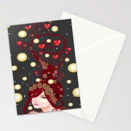 heaftful lady Stationery Cards