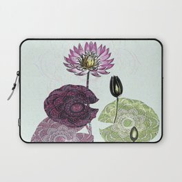 Bowing to the divine in pink Laptop Sleeve