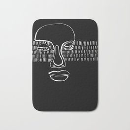 graphic portrait Bath Mat