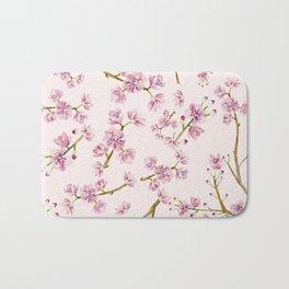 Spring Flowers - Pink Cherry Blossom Pattern Bath Mat