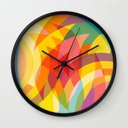 circle colour fields Wall Clock