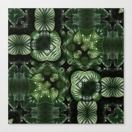 Green leaves pattern Canvas Print