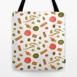 Old Fashioned Boiled Sweets: Alternate Colour by Chrissy Curtin Tote Bag