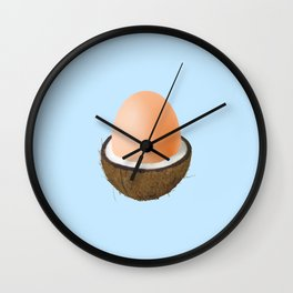 Coco-egg Wall Clock