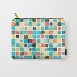 Geometric Abstract Watercolor Carry-All Pouch